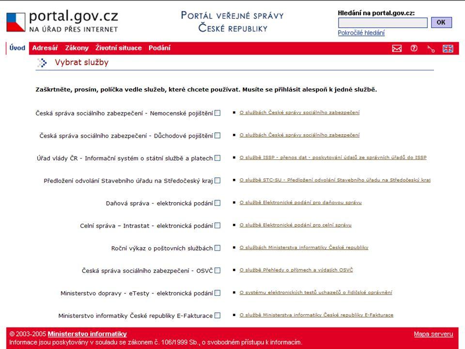 Přehled služeb PVS