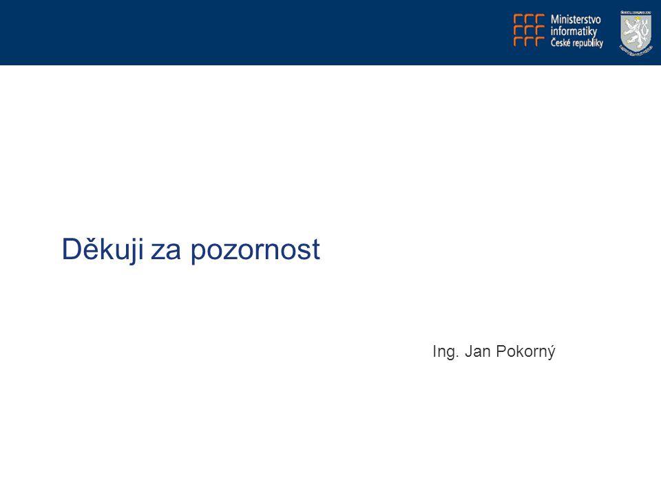 Děkuji za pozornost Ing. Jan Pokorný