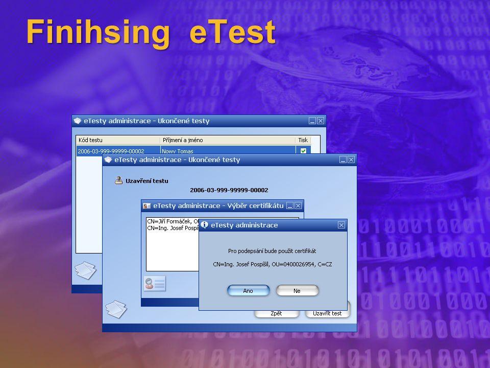 Finihsing eTest