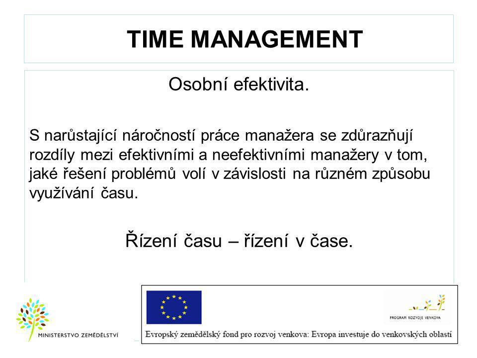 TIME MANAGEMENT Osobní efektivita.