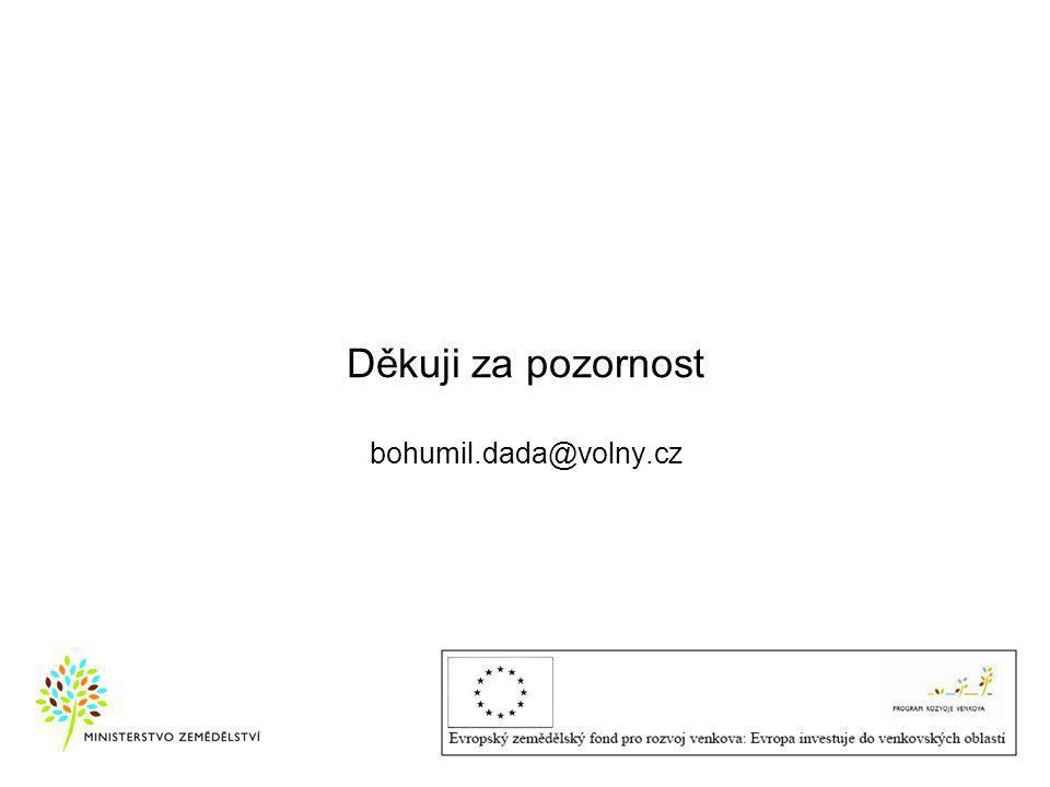 Děkuji za pozornost bohumil.dada@volny.cz