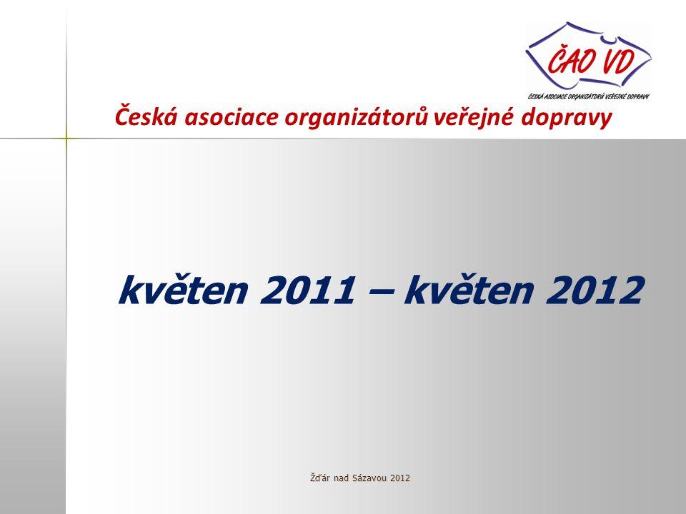 Česká asociace organizátorů veřejné dopravy květen 2011 – květen 2012 Žďár nad Sázavou 2012