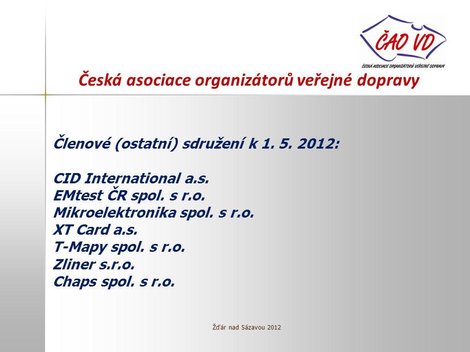 Česká asociace organizátorů veřejné dopravy Členové (ostatní) sdružení k 1.