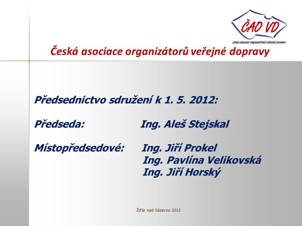 Česká asociace organizátorů veřejné dopravy Předsednictvo sdružení k 1.