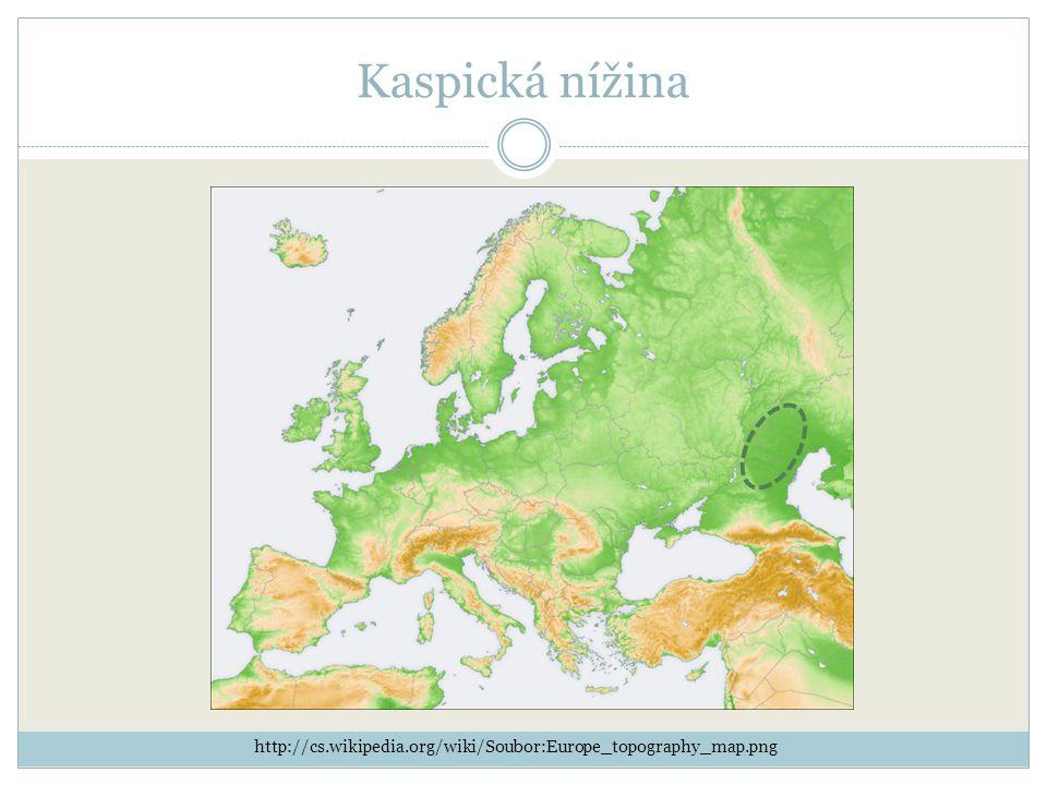 Kaspická nížina http://cs.wikipedia.org/wiki/Soubor:Europe_topography_map.png