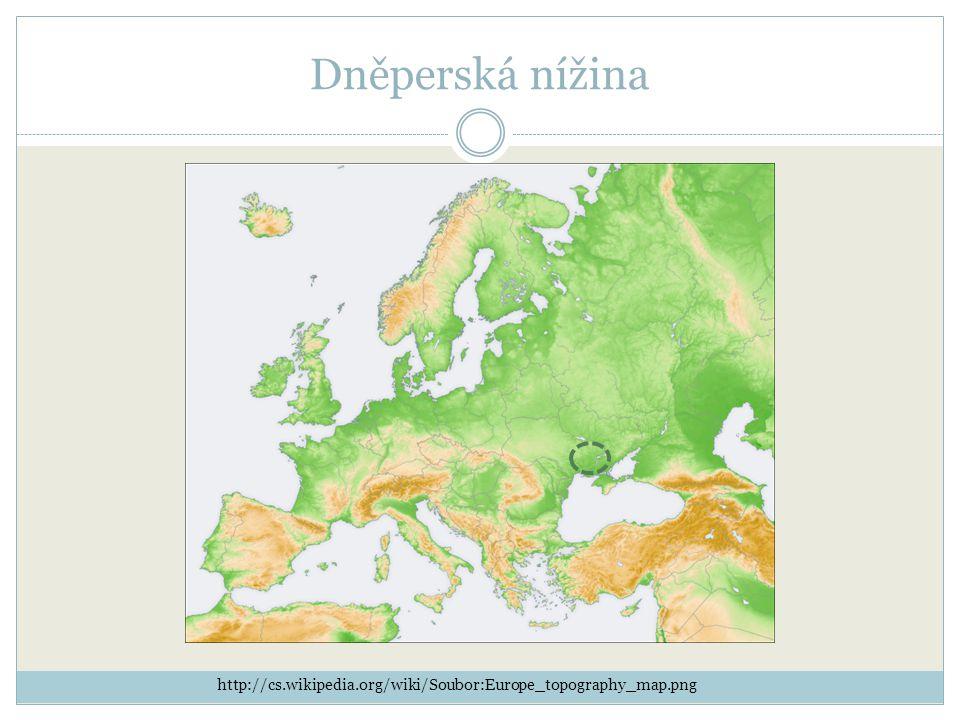 Dněperská nížina http://cs.wikipedia.org/wiki/Soubor:Europe_topography_map.png