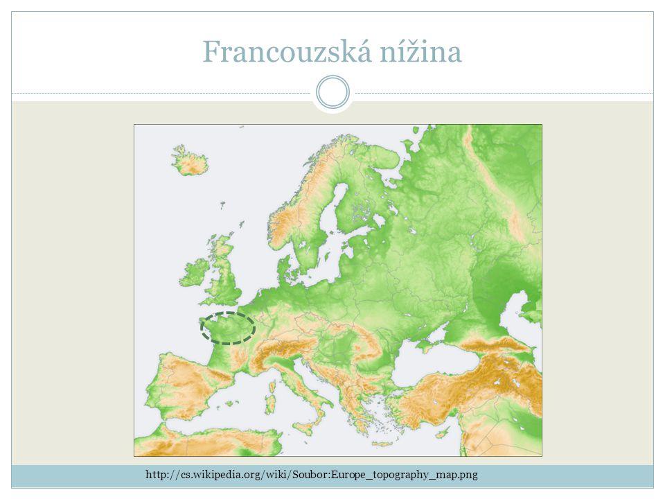 Francouzská nížina http://cs.wikipedia.org/wiki/Soubor:Europe_topography_map.png