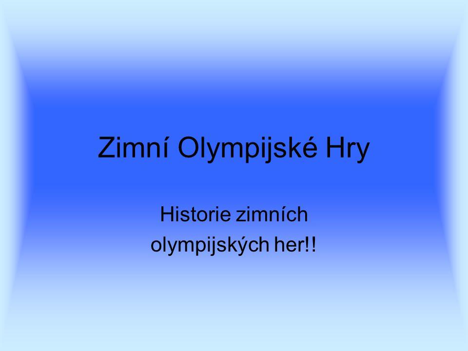 Zimní Olympijské Hry Historie zimních olympijských her!!