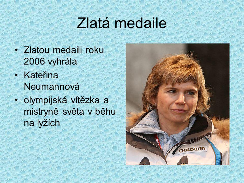 Zlatá medaile Zlatou medaili roku 2006 vyhrála Kateřina Neumannová olympijská vítězka a mistryně světa v běhu na lyžích