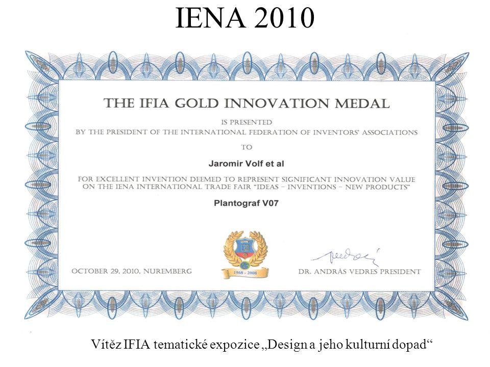 """IENA 2010 Vítěz IFIA tematické expozice """"Design a jeho kulturní dopad"""