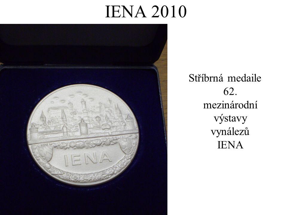 IENA 2010 Stříbrná medaile 62. mezinárodní výstavy vynálezů IENA