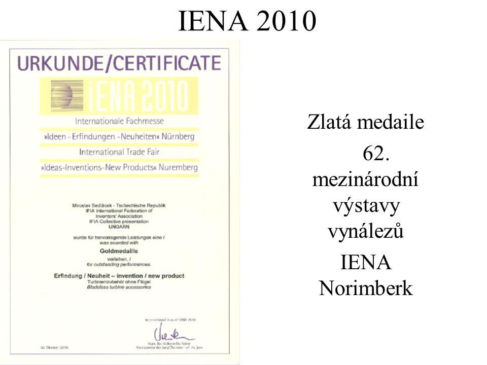 IENA 2010 Zlatá medaile 62. mezinárodní výstavy vynálezů IENA Norimberk