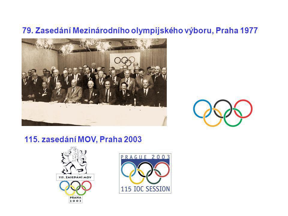 115. zasedání MOV, Praha 2003 79. Zasedání Mezinárodního olympijského výboru, Praha 1977