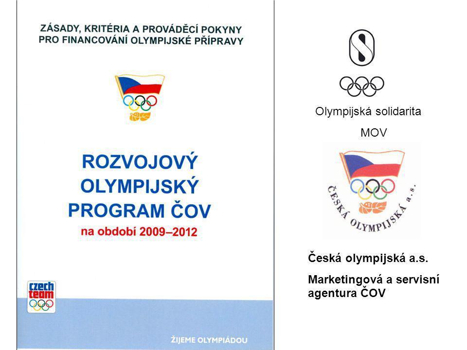 Česká olympijská a.s. Marketingová a servisní agentura ČOV Olympijská solidarita MOV