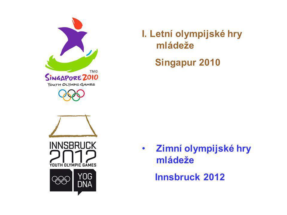 I. Letní olympijské hry mládeže Singapur 2010 Zimní olympijské hry mládeže Innsbruck 2012