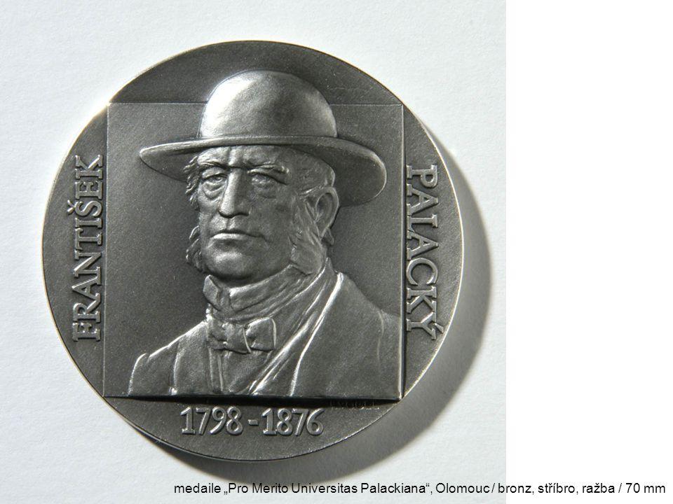 """medaile """"Pro Merito Universitas Palackiana"""", Olomouc / bronz, stříbro, ražba / 70 mm"""
