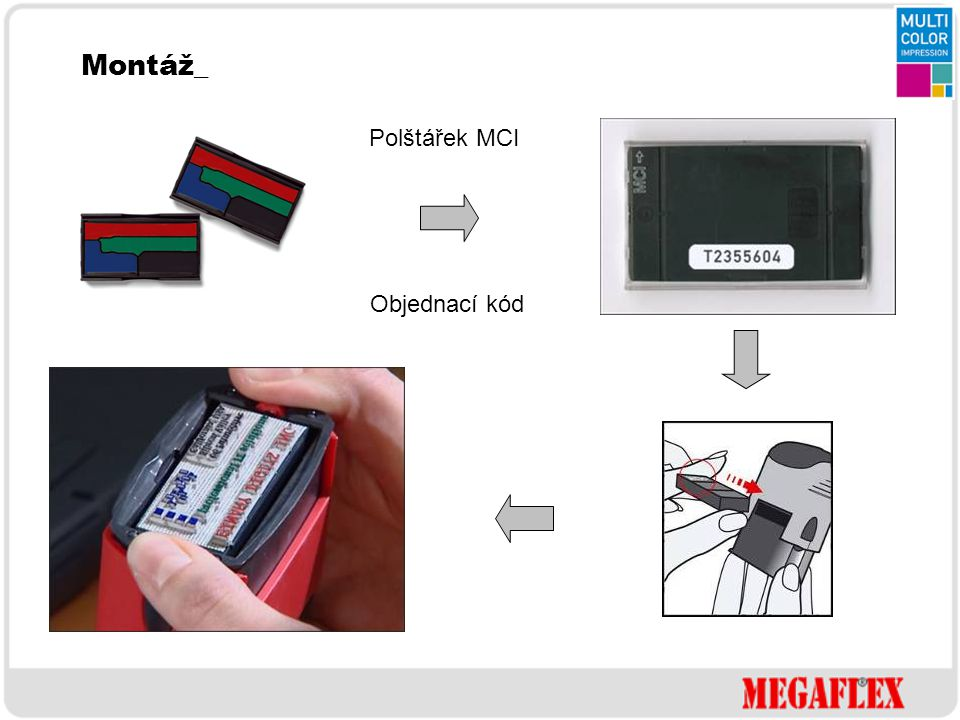 Montáž_ Polštářek MCI Objednací kód