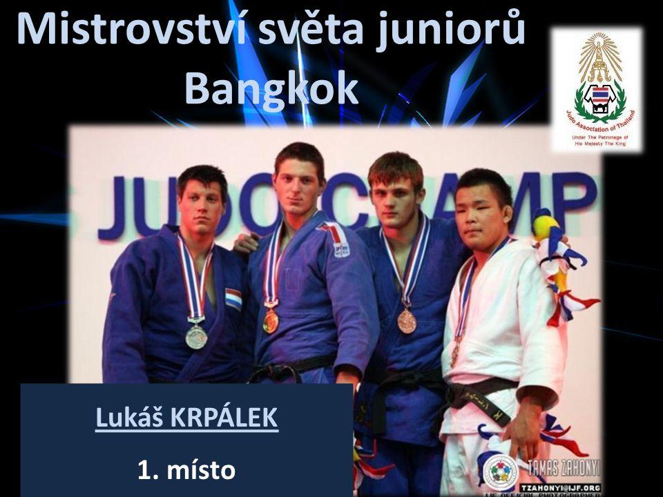Mistrovství světa juniorů Bangkok Lukáš KRPÁLEK 1. místo