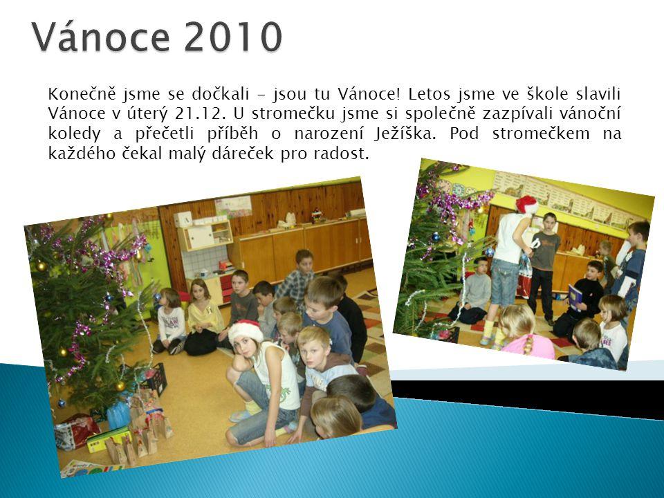 Konečně jsme se dočkali - jsou tu Vánoce.Letos jsme ve škole slavili Vánoce v úterý 21.12.