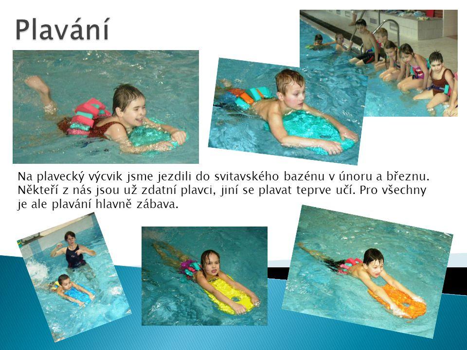 Na plavecký výcvik jsme jezdili do svitavského bazénu v únoru a březnu.