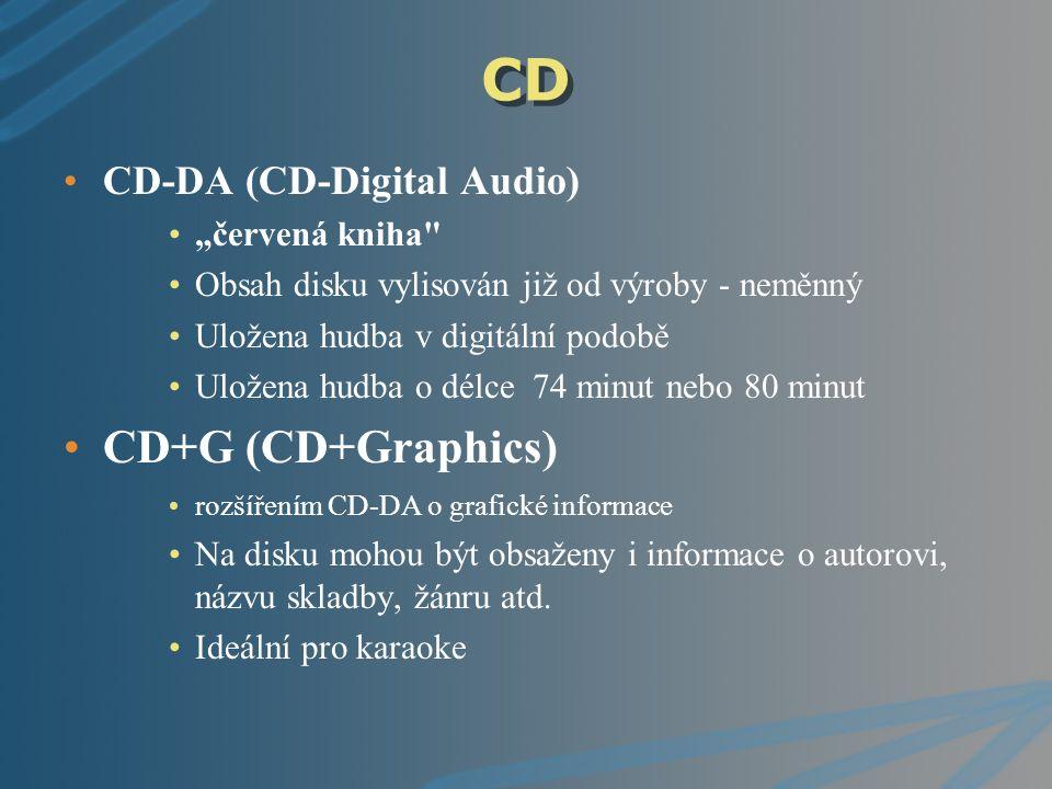 """CD CD-R (CD-Recordable) """"oranžová kniha nejznámější a nejpopulárnější médium mezi počítačovými uživateli jde o zapisovatelný (vypalovatelný) disk."""