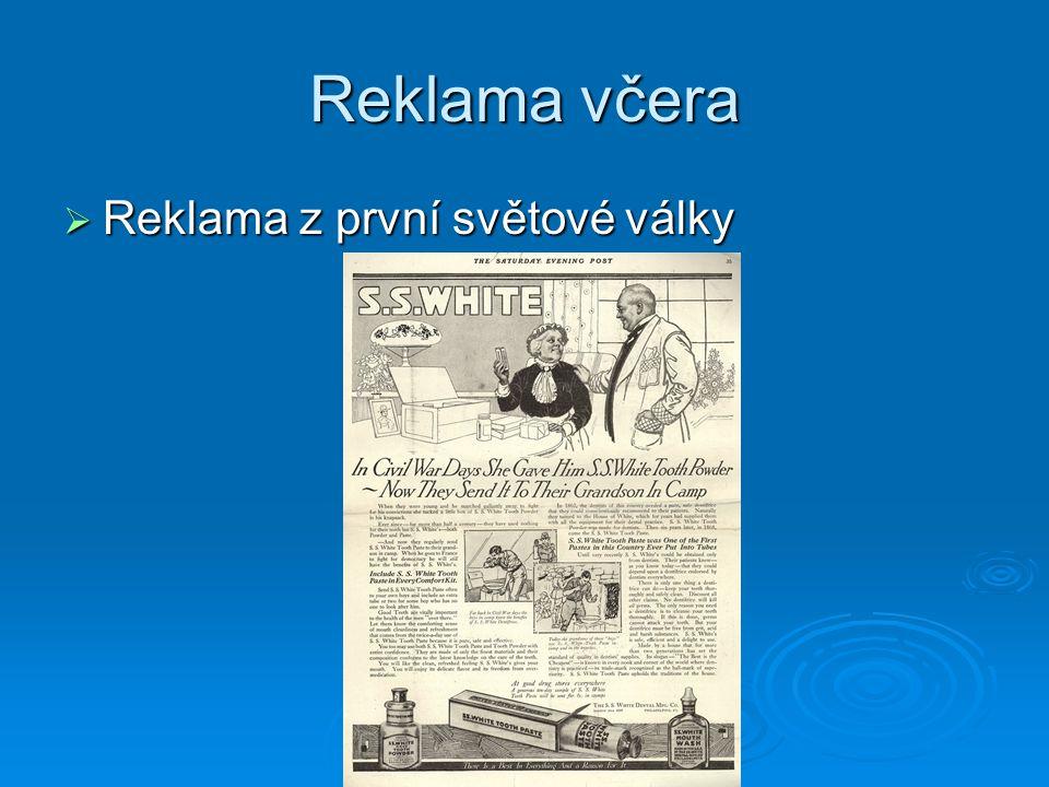 Reklama včera  Reklama z první světové války