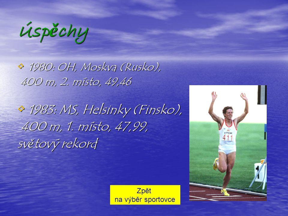 Životopis V roce 1983 vytvořila Jarmila Kratochvílová světový rekord, když jako první žena zaběhla 400 metrů pod 48 sekund a byla vyhlášena nejlepší a