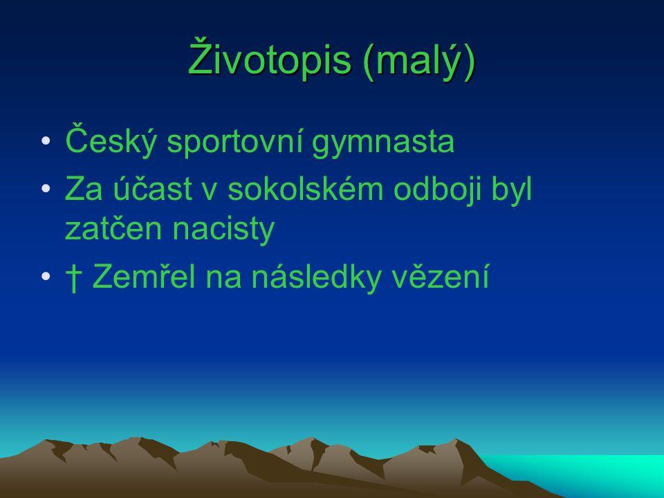 Ladislav Vácha *Narozen: 21.3.1899 Brno † Zemřel: 28.6.1943 Zlín Odvětví: Sportovní gymnastika