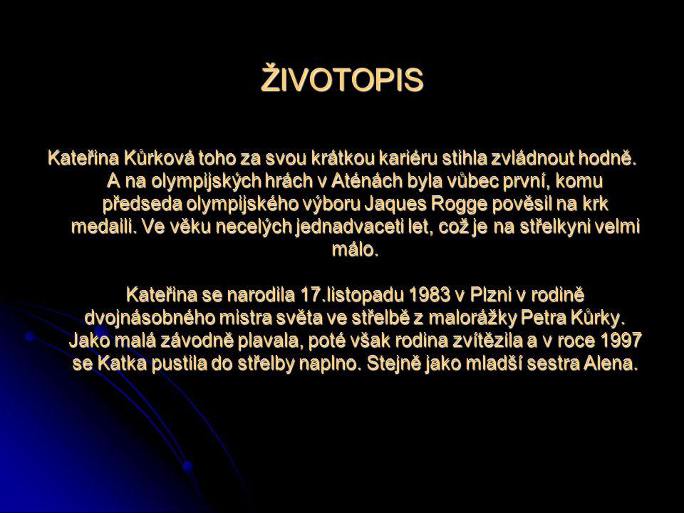 Střelba ze vzduchové pušky Datum narození: 17.11.1983 (24 let) 17.11.1983 (24 let) Místo narození: Plzeň, Česká republika Plzeň, Česká republika Zname
