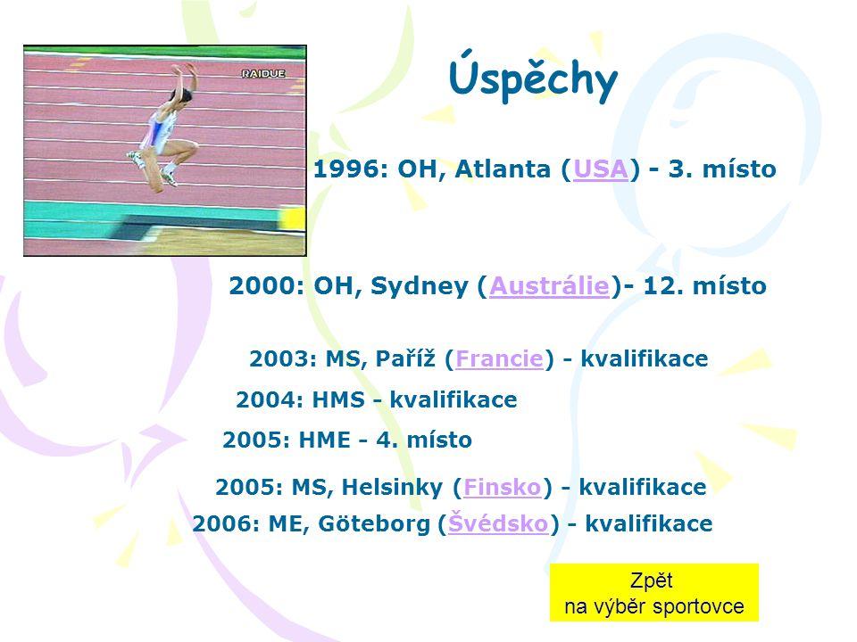 Životopis S atletikou začínala jako výškařka (osobní rekord = 1.95 m). V roce 2005 oznámila konec kariéry, přesto nastoupila na atletický ovál, aby po