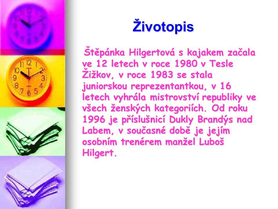 Šťepánka Hilgertová Datum narození: 10.dubna 1968 Kajakářka