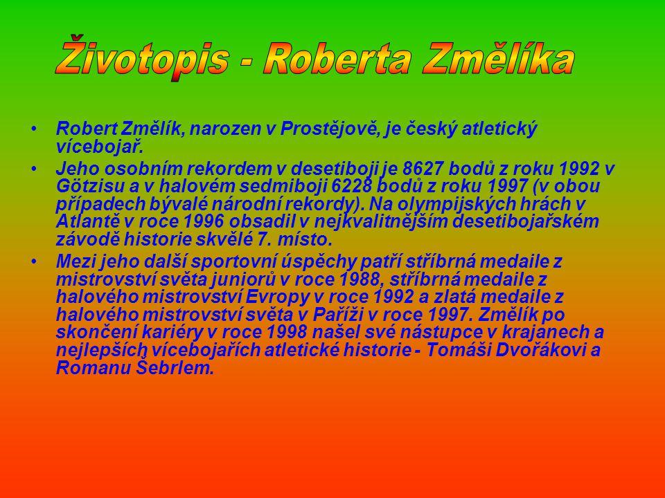 Datum narození: 18. 4. 1969 Český atletický vícebojař a první český olympijský vítěz v desetiboji z olympiády 1992 v Barceloně