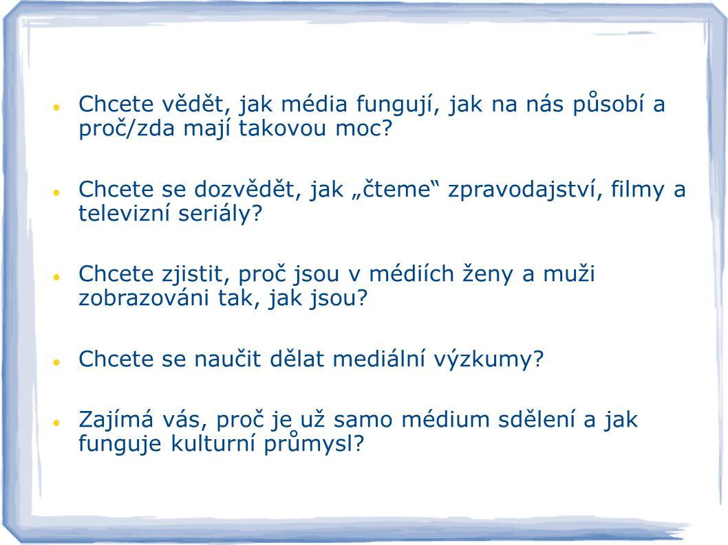 Přihlaste se na obor MEDIÁLNÍ STUDIA na Filozofickou fakultu Univerzity Palackého v Olomouci