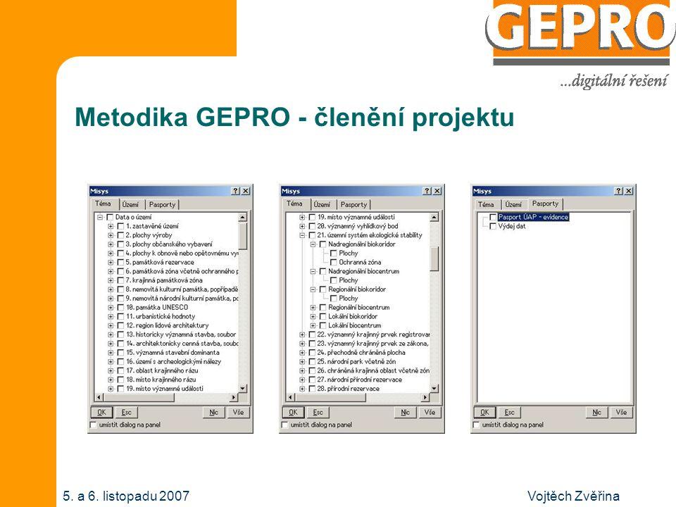 Vojtěch Zvěřina5. a 6. listopadu 2007 Metodika GEPRO - členění projektu