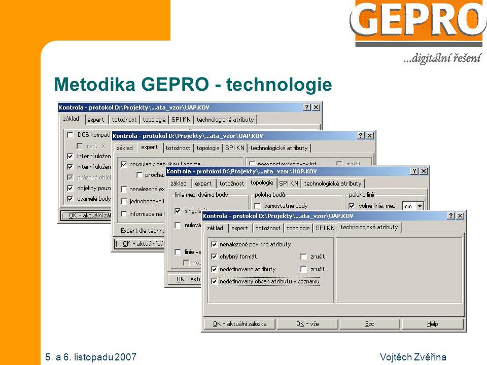 Vojtěch Zvěřina5. a 6. listopadu 2007 Metodika GEPRO - technologie