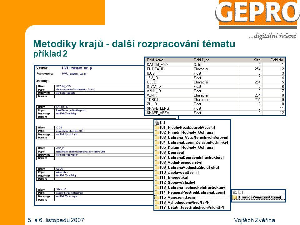Vojtěch Zvěřina5. a 6. listopadu 2007 Metodiky krajů - další rozpracování tématu příklad 3