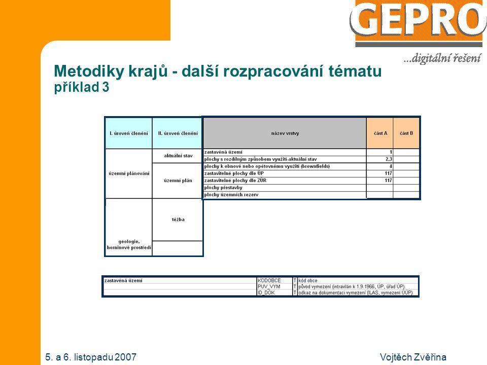 Vojtěch Zvěřina5. a 6. listopadu 2007 Metodiky krajů - další rozpracování tématu příklad 4