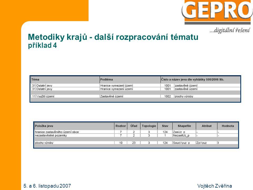 Vojtěch Zvěřina5.a 6. listopadu 2007 Metodiky krajů - závěr V čem se metodiky liší .