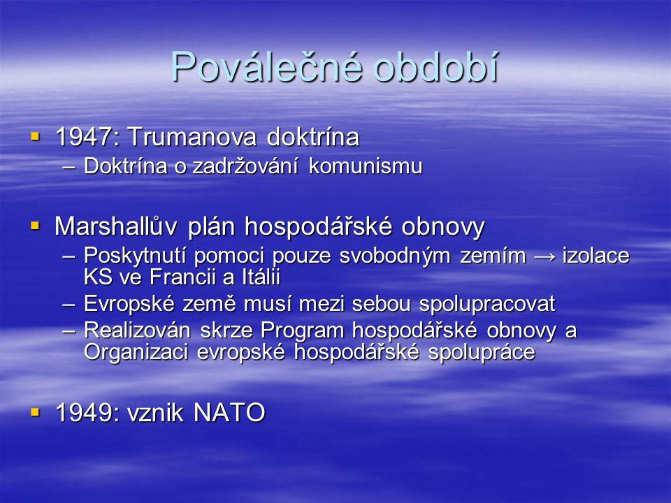 50.léta  Vývoj v ZE → od ESUO k Římským smlouvám.