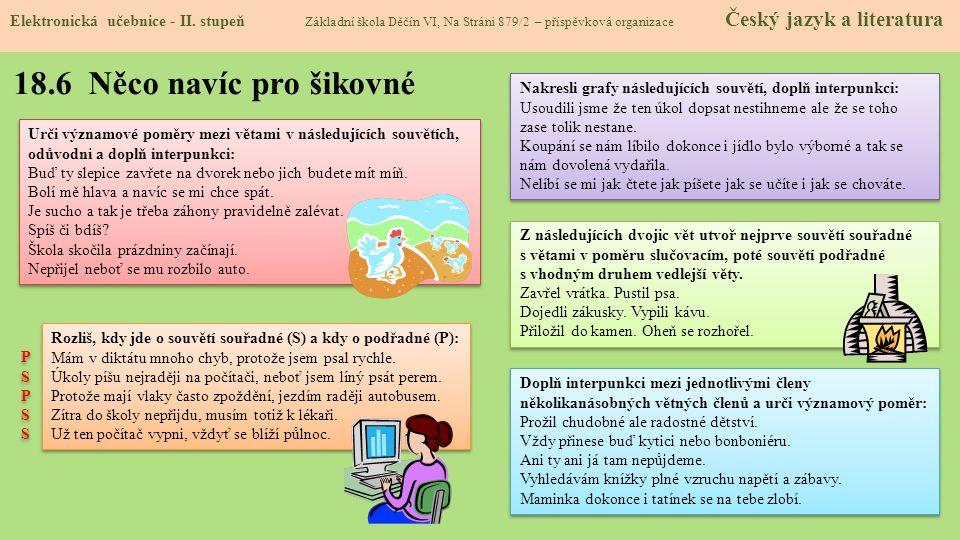 18.7 CLIL (Semantic relationships, punctuation) Elektronická učebnice - II.