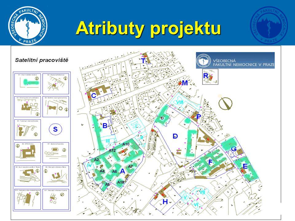 3 Atributy projektu Rozsah Rozšíření stávající bezdrátové sítě do všech lokalit VFN, rozsah přes 200 přístupových bodů Pokrytí 70% budov VFN Přechod z