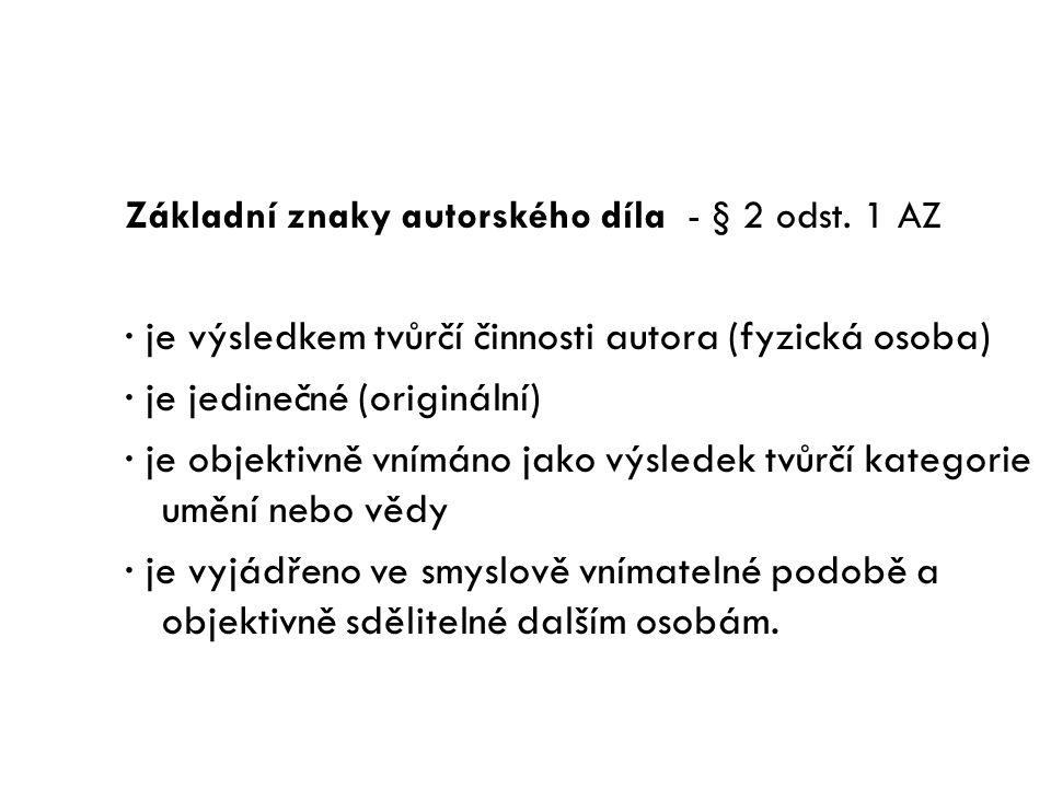 Zákon č. 121/2000 Sb., Autorský zákon