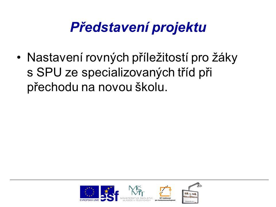 Představení projektu Nastavení rovných příležitostí pro žáky s SPU ze specializovaných tříd při přechodu na novou školu.