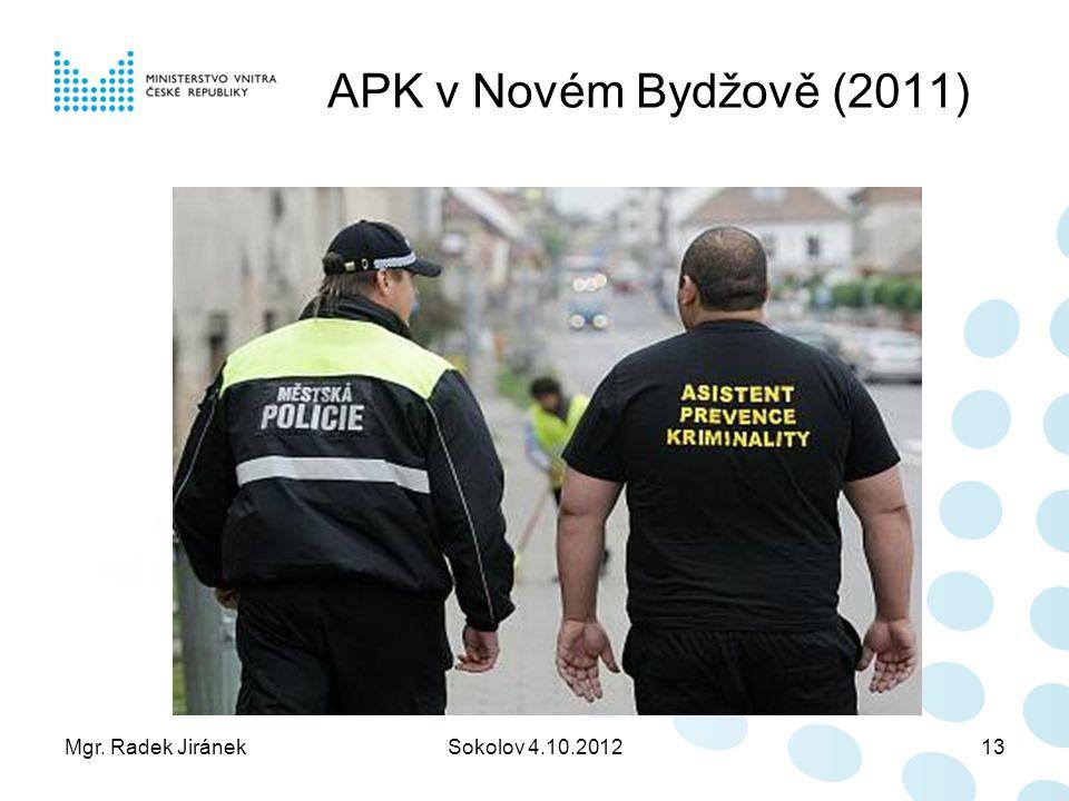 Mgr. Radek JiránekSokolov 4.10.201213 APK v Novém Bydžově (2011)