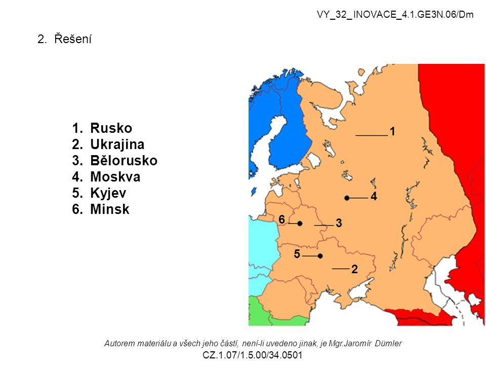 3.Vyhledej podle čísel a přiřaď se kterými státy sousedí Ukrajina.