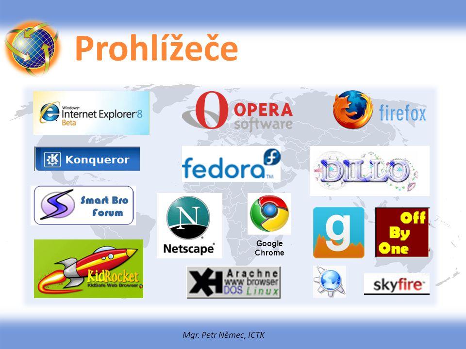 Mgr. Petr Němec, ICTK Prohlížeče Google Chrome