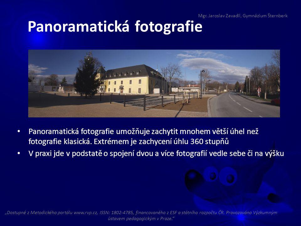 Panoramatická fotografie umožňuje zachytit mnohem větší úhel než fotografie klasická. Extrémem je zachycení úhlu 360 stupňů V praxi jde v podstatě o s