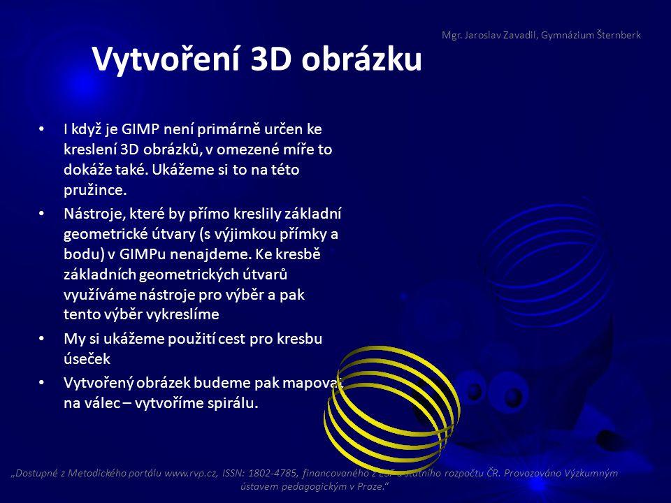 I když je GIMP není primárně určen ke kreslení 3D obrázků, v omezené míře to dokáže také.
