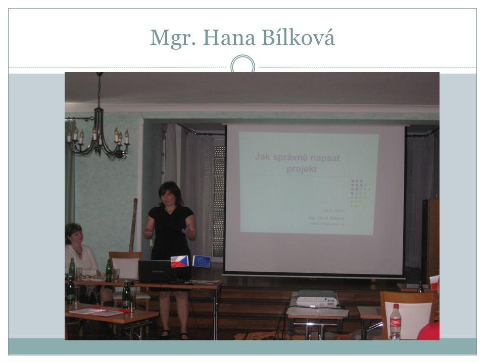 Mgr. Hana Bílková