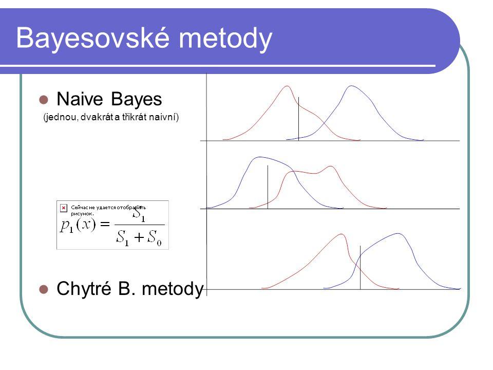 Bayesovské metody Naive Bayes (jednou, dvakrát a třikrát naivní) Chytré B. metody